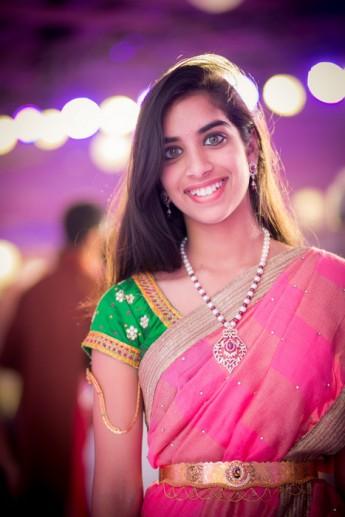 032-pink and green saree (2)