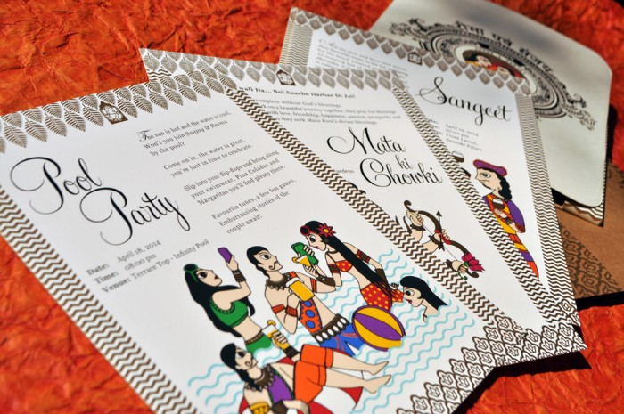 New 6 indian wedding invitation trends straight from the pros madhubani invite 1 stopboris Image collections