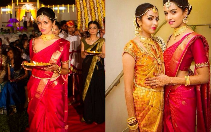 Price Approx 70K 2 Sister Of The Bride 001 For Wedding I Wore A Traditional South Indian Kanjiwaram Saree From