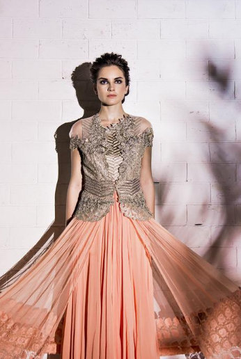 Trending on the gallery: Peach Wedding outfits | WedMeGood