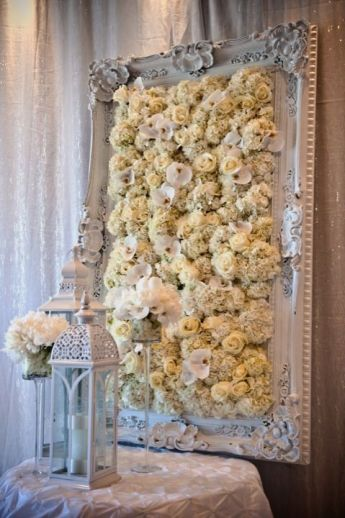 Wall Decorations For Wedding : Unexpected ways to use flowers at your wedding