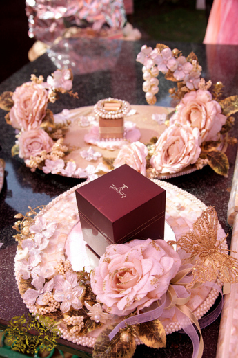Dreamy Pink And White Engagement In Delhi Wedmegood