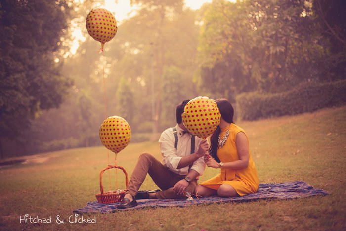 Pre Wedding Shoot With Polka Dots Amp Bow Ties Wedmegood Best Indian Wedding Blog For