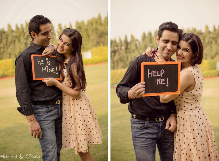 Pre Wedding Gifts For Bride: Pre Wedding Shoot With Polka Dots & Bow Ties !,