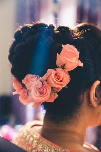 Beautiful Pink And White Engagement In Thrissur Wedmegood