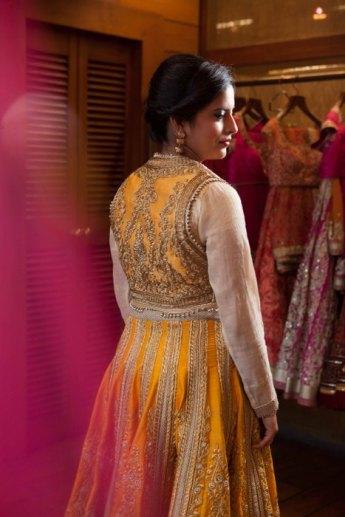 Wmg Red Carpet Bride At Ensemble Saffron Yellow Wedmegood
